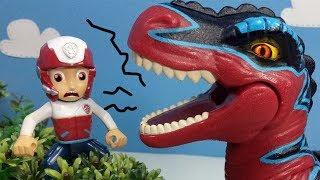 Щенячий патруль спасает ферму от динозавра