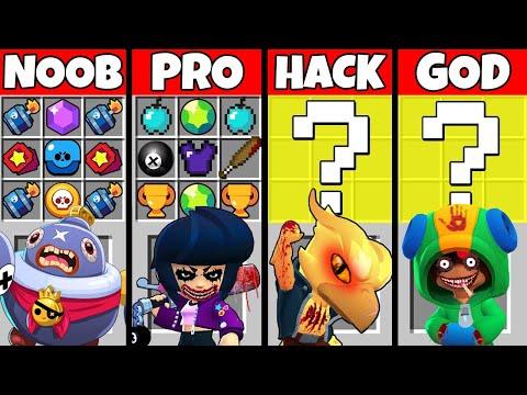 Minecraft NOOB vs PRO vs HACKER vs GOD: SCARY BRAWLERS CRAFTING Challenge in Minecraft! Animation