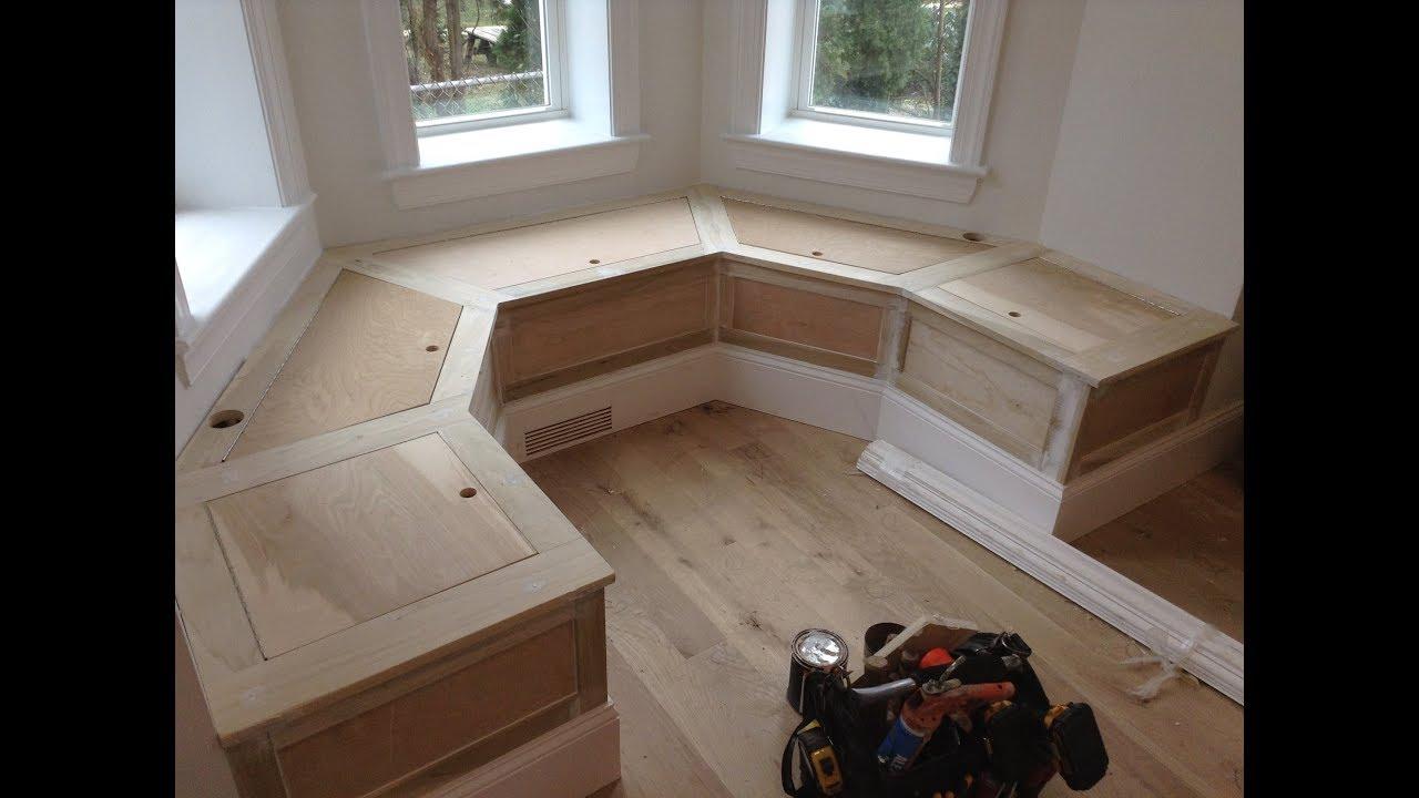Woodworking Kitchen Banquette Bench W Storage