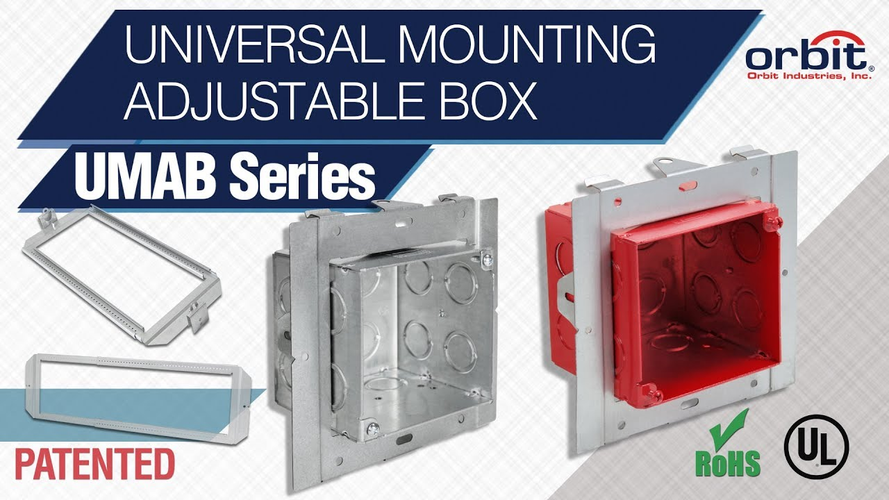 Orbit's Universal Mounting Adjustable Box Takes the Hassle out of Installing Bulkier Items