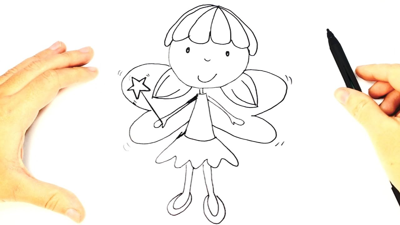 Uncategorized How To Draw A Fairy how to draw a fairy for kids drawing lesson step by youtube