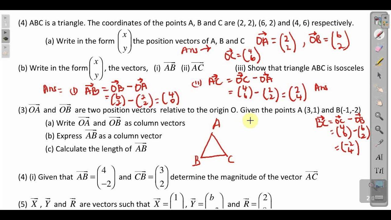 CXC CSEC Maths- Position and Magnitude Of Vectors Lesson 1 ACT ...