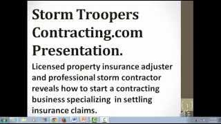 ProvenVideo: Make Cash Instantly. Start a Storm Damage repair business.