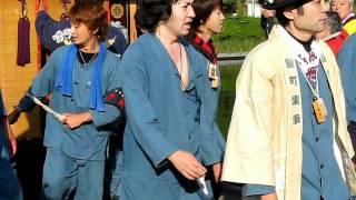 H23年 毎年故郷の西条祭りに参加される秋川雅史さん。だんじり、御殿...