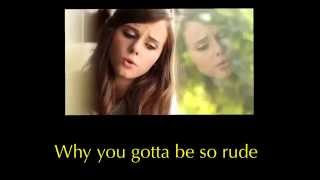 "Rude - MAGIC! ""Girl Version"" (Acoustic Cover) by Tiffany Alvord lyrics"