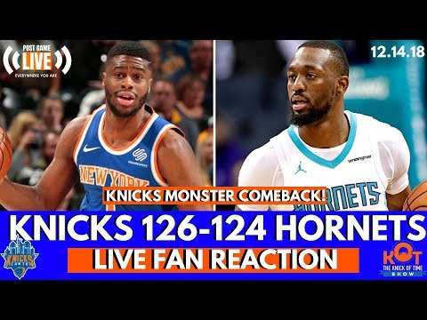 Emmanuel Mudiay and Luke Kornet Spark Knicks COMEBACK Over Hornets!| LIVE Postgame Fan Reaction