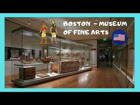 BOSTON: EXPLORING MUSEUM of FINE ARTS, EGYPTIAN TOMB ANTIQUITIES 4,000 years old