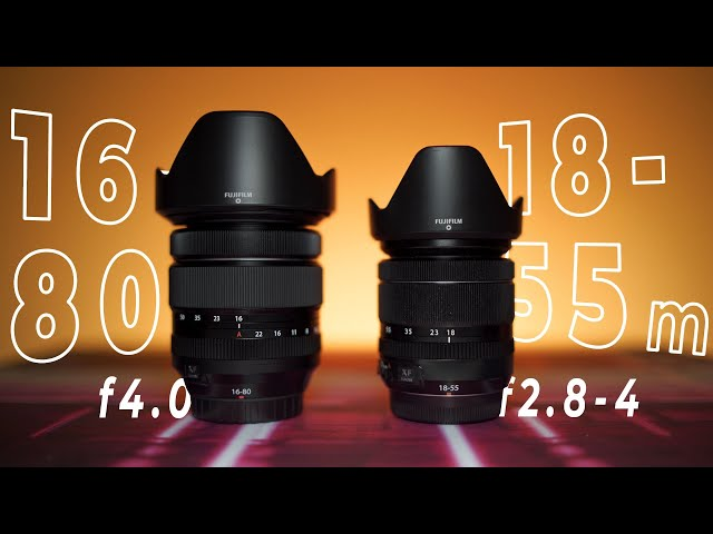 Fujinon 16-80mm f4 VS 18-55mm f2.8-4 | CONFRONTO COMPLETO
