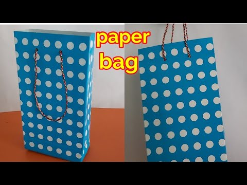 How to make a paper bag at home | paper shopping bag craft ideas | gift paper bag tutorial