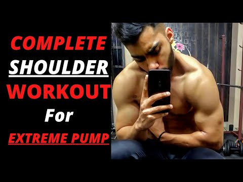 Complete SHOULDER WORKOUT ROUTINE for EXTREME PUMP!