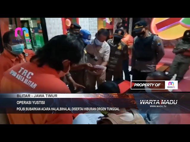 Blitar - Polisi Bubarkan Acara Halal Bihalal Disertai Hiburan Orgen Tunggal