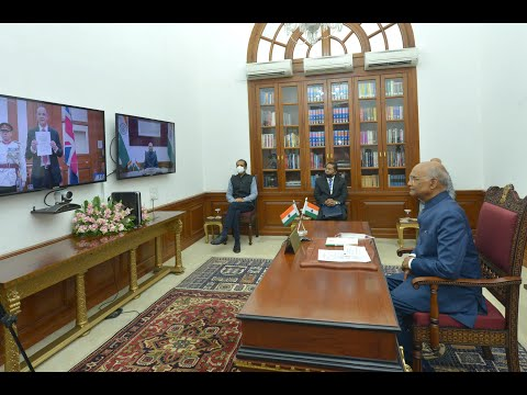 Envoys of Three Nations Present Credentials to The President of India