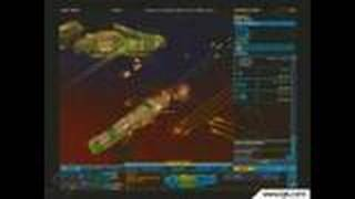 Homeworld2 PC Games Gameplay - Taking down a carrier