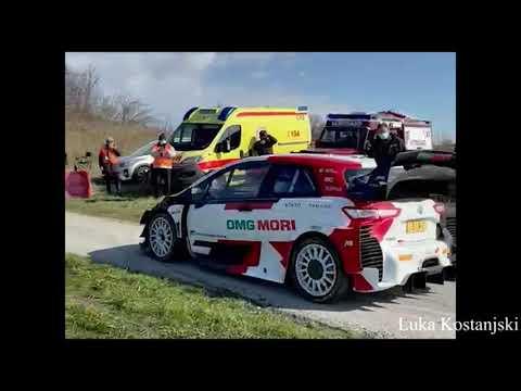 WRC Croatia 2021 Toyota track testing