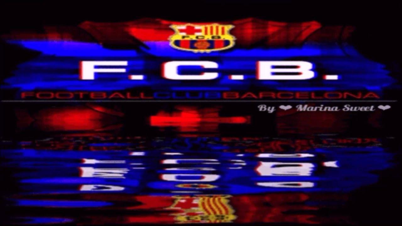 Vídeo animación con el himno del F C  Barcelona, por ❤ Marina Sweet ❤