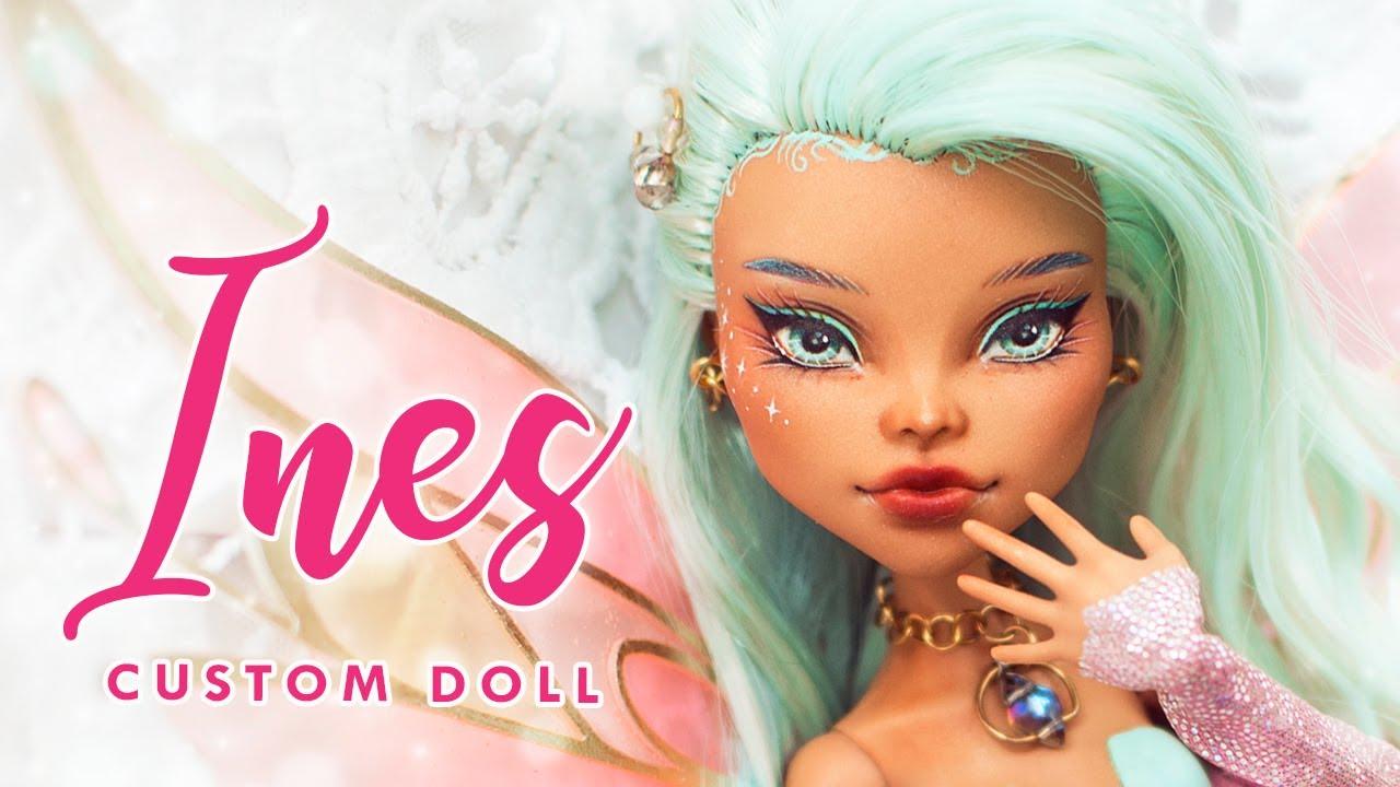 ✨ Ines Enchantix ✨ • Winx Club OC • Magical Girl Collab • Monster High OOAK Custom Doll Tutorial