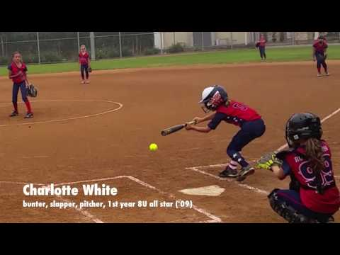 Charlotte White:  bunter, slapper, pitcher - 8U All Stars 2016