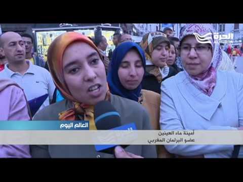 شباب حزب العدالة والتنمية يتظاهرون أمام البرلمان تضامنا مع معتقلي -الفيسبوك-  - 19:20-2017 / 5 / 26