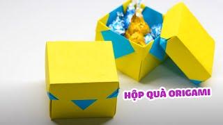 Hộp quà origami - Gấp hộp quà bằng giấy a4  -Gấp Hộp quà origami đơn giản - gấp hộp quà trong 5 phút