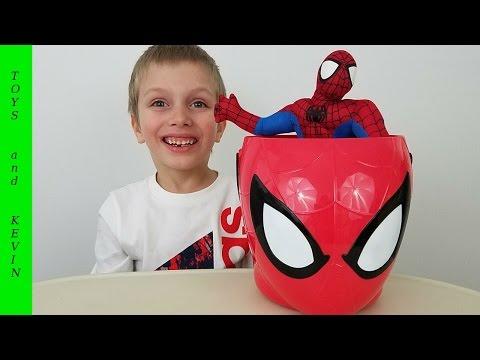 Пасхальная корзина с сюрпризами ЧЕЛОВЕК ПАУК Киндер сюрпризы Игрушки человек паук