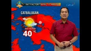 Weather update as of 6:10 a.m. (April 17, 2018)