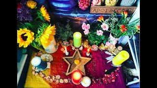 ☀️🌻Litha Summer Solstice 2017 Altar/ Ritual Tour🌻☀️