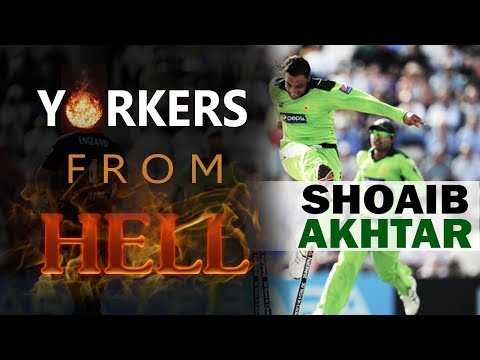 Yorkers from Hell - 5 best yorkers of Shoaib Akhtar || The Rawalpindi Express ||