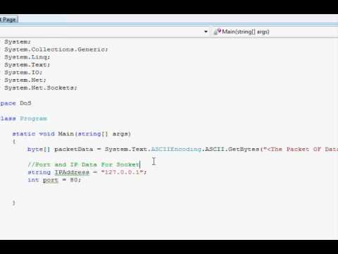 Sending a UDP Packet in C#