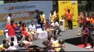 meesaya murukku success meet HIP HOP AADHI,AATHMIKA speech in Forum mall tami