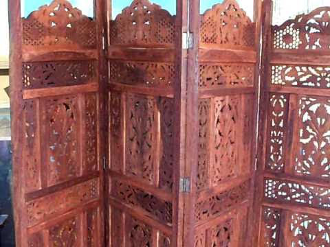 exotic room divider teak wood screen 178 youtube