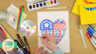 Art for Kids | Memorial Day Marker Painting Art Lesson for Teachers