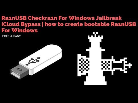 Ra1nUSB Checkra1n For Windows Jailbreak iCloud Bypass | how to create bootable Ra1nUSB For Windows