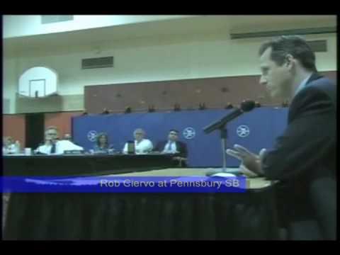 Rob Ciervo at Pennsbury School Board