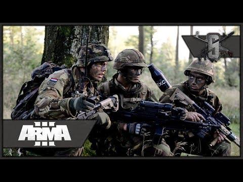 Dutch Army Convoy Gets Ambushed - ArmA 3 Zeus Gameplay 1440p60