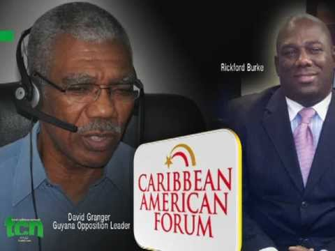 Caribbean American Forum - David Granger Guyana's Opposition leader PART 1 OF 3