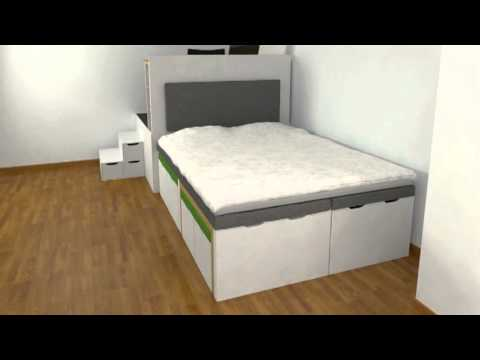 Matroshka Furniture - Swedish multifunctional furniture