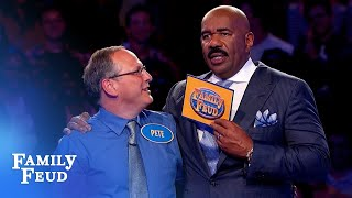 Pete's answer STUNS Steve Harvey in Fast Money! | Family Feud