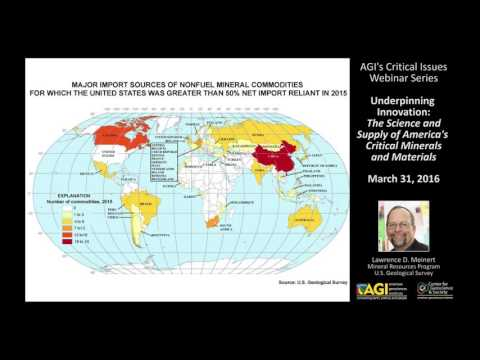 Critical Issues Webinar: Underpinning Innovation - America's Critical Minerals And Materials