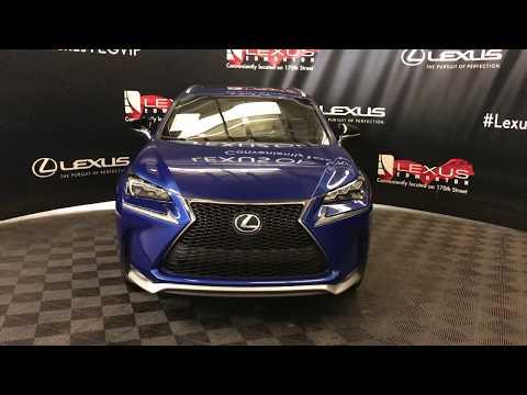 Blue 2016 Lexus NX 200t F Sport Series 2 Review Edmonton Alberta - Lexus of Edmonton