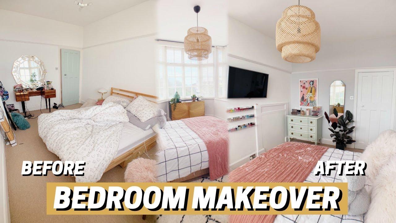 BEDROOM MAKEOVER 😍 before + after