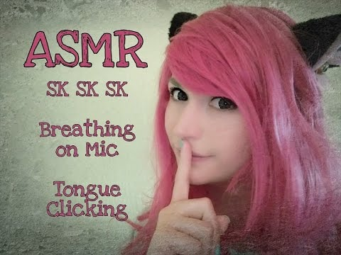 ASMR 3+ Hours of Sk Sk Sk . Ear Blowing . Tongue Clicking . White Noise