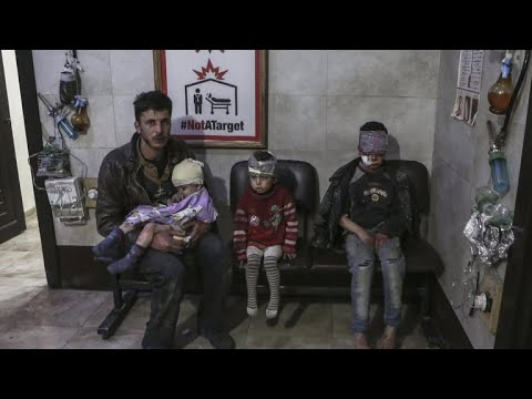 "Syrian civilians ""waiting for death"" amid government airstrikes"