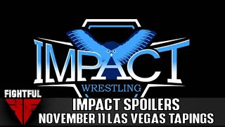 IMPACT Wrestling TV Taping Spoilers (11/11/18): Matches Announced For