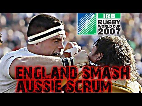 RWC 2007 England Australia ALL SCRUMS