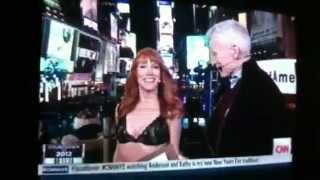 Female CNN reporter half naked on live TV