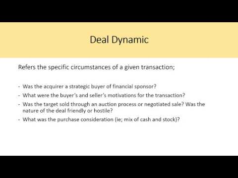 Precedent Transactions Analysis – CH 2 Investment Banking Valuation Rosenbaum