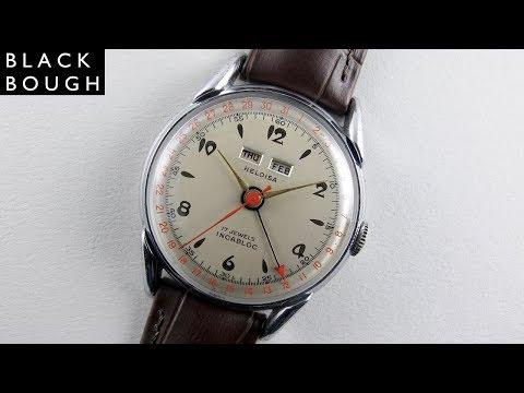 Heloïsa vintage calendar wristwatch, circa 1950
