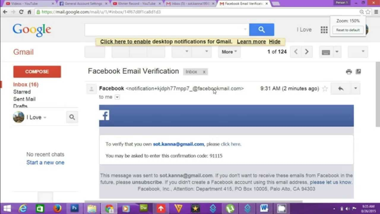 How To Remove Email From Facebook Account - YouTube