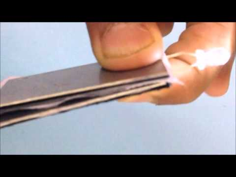 Lighting  An LED Bulb From Water Using Magnesium Strips