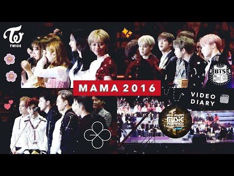 MAMA 2016 Video Diary 🎥 EXO, BTS, Seventeen, Twice, Taeyeon, etc.